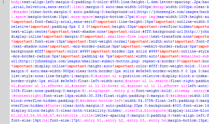 after minifying our css stylesheet