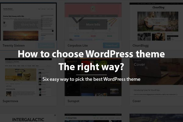 How to Choose a WordPress Theme for your Website – the Right Way